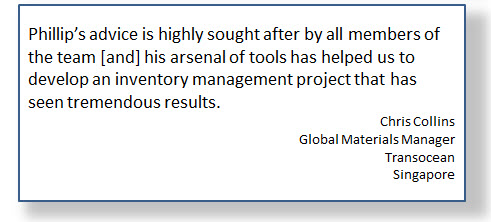 Best Practice Spare Parts Inventory Management Testimonial